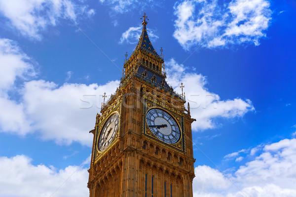 Big Ben klok toren Londen Engeland Stockfoto © lunamarina