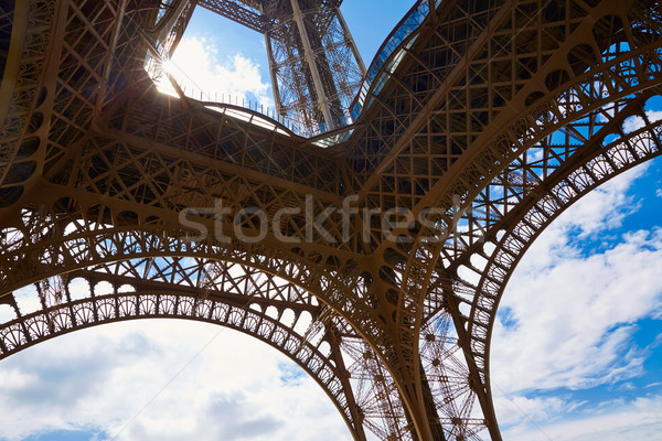 Torre Eiffel Parigi Francia cielo città blu Foto d'archivio © lunamarina
