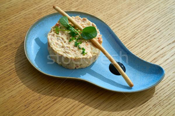 Spanish potato salad with salad  Stock photo © lunamarina
