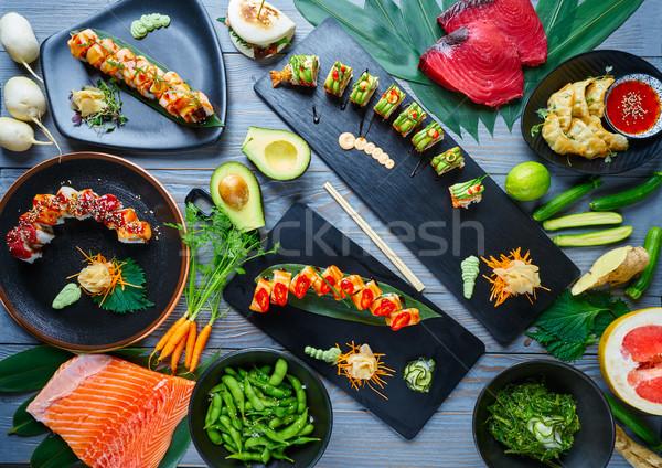 Asiático Japão sushi receitas comida cozinha Foto stock © lunamarina