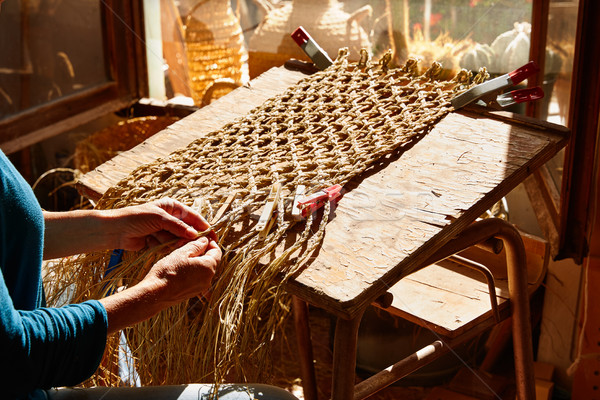 Hierba artesanía artesano manos de trabajo diseno Foto stock © lunamarina