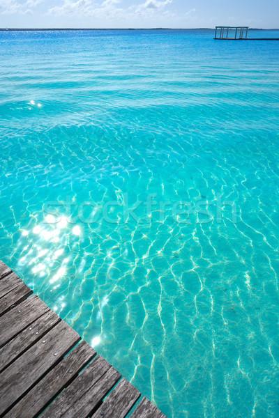 Laguna de Bacalar Lagoon in Mexico Stock photo © lunamarina
