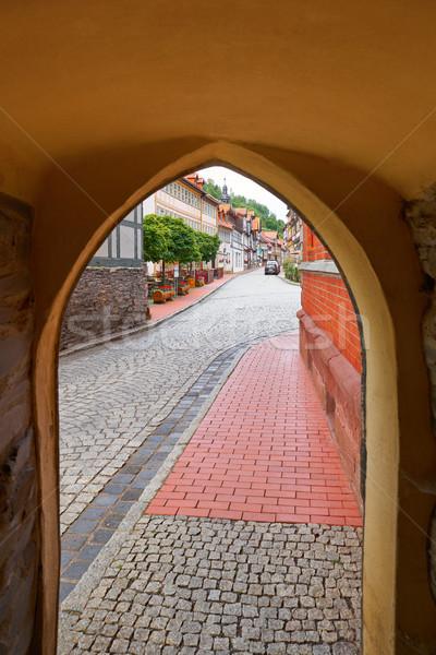 Arch montagna Germania corridoio città muro Foto d'archivio © lunamarina