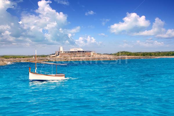 little sailboat in formentera Stock photo © lunamarina