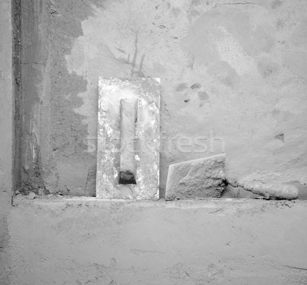 dirty grunge cement montar trowel tools Stock photo © lunamarina