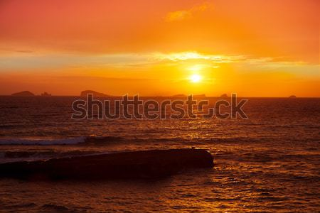 Ibiza Cala Conta Comte Compte sunset Stock photo © lunamarina