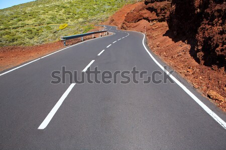 Canary Islands winding road curves in mountain Stock photo © lunamarina