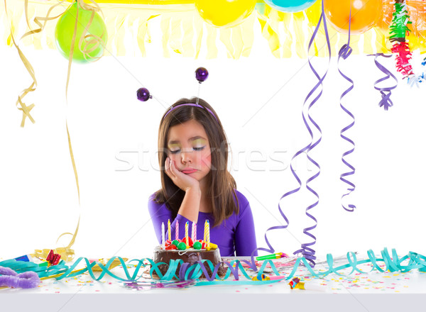 asian child sad bored kid girl in birthday party Stock photo © lunamarina