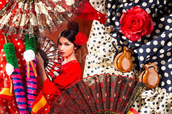 Flamenco woman with bullfighter and typical Spain Espana Stock photo © lunamarina