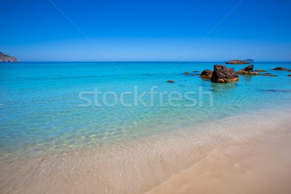 Ibiza Aigues Blanques Aguas Blancas Beach at Santa Eulalia Stock photo © lunamarina