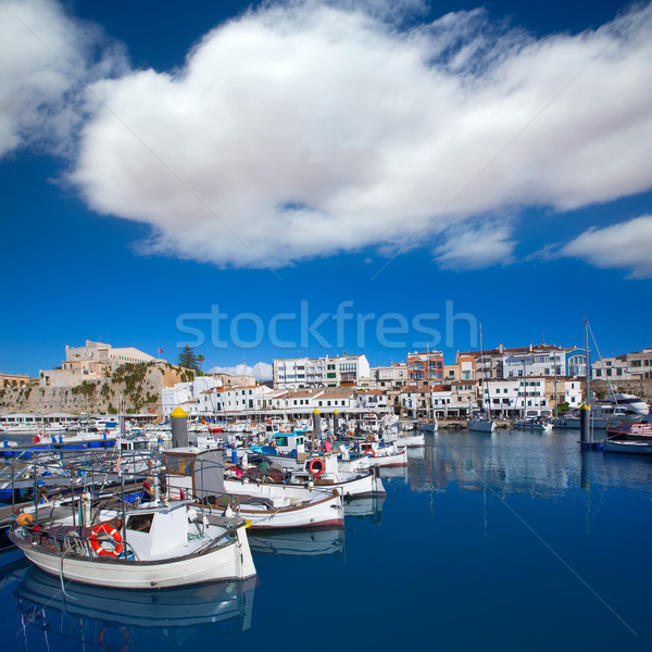 Marina port vue mairie plage ville Photo stock © lunamarina