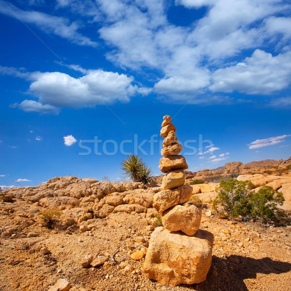 Mountain of rocks in Joshua tree National Park California Stock photo © lunamarina