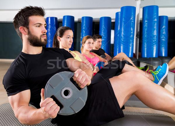 Abdominal placa formación núcleo grupo gimnasio Foto stock © lunamarina
