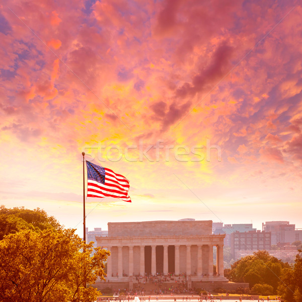 Abraham Lincoln Memorial building Washington DC Stock photo © lunamarina