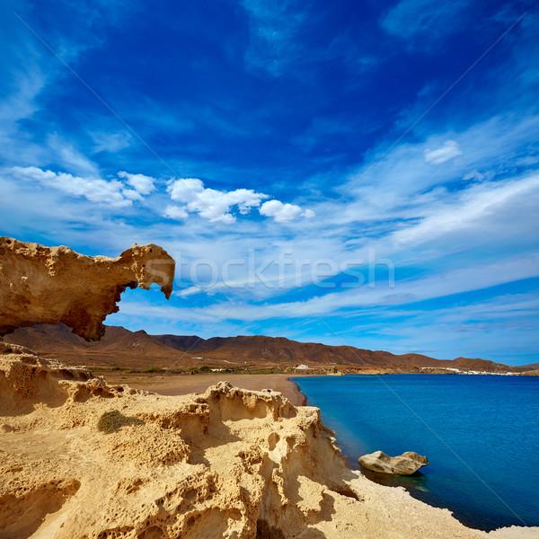 Almeria Cabo de Gata Playa del Arco arch beach Stock photo © lunamarina