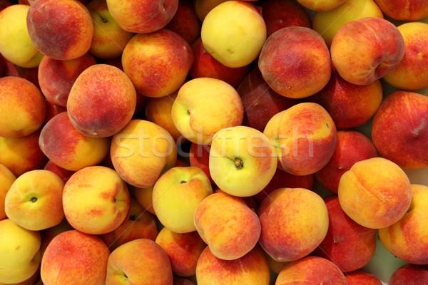 Pêssegos padrão textura fruto mercado pêssego Foto stock © lunamarina