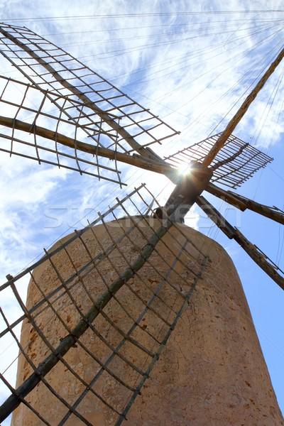 Salt windmill traditional Formentera Ibiza Balearic Stock photo © lunamarina