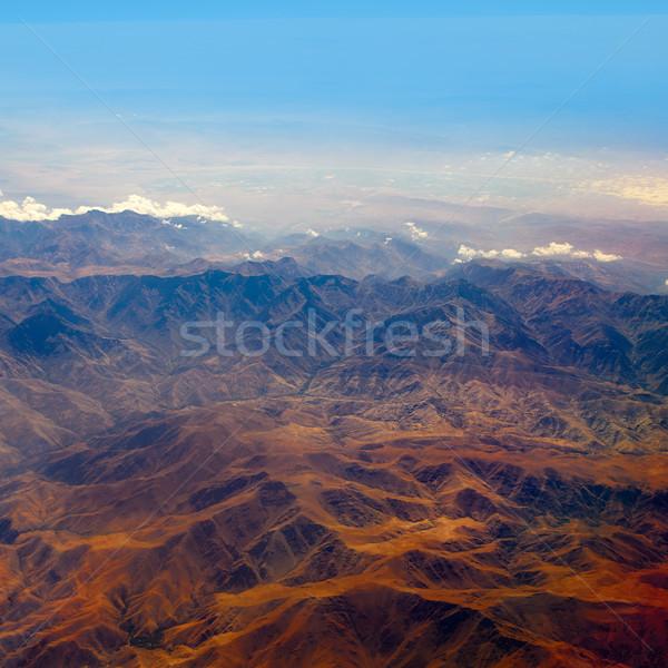 Légifelvétel Marokkó atlasz Afrika nap naplemente Stock fotó © lunamarina