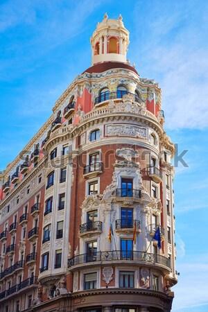 Валенсия здании улице исторический Испания искусства Сток-фото © lunamarina
