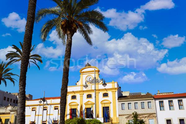 Merida in Spain Plaza de Espana square Badajoz Stock photo © lunamarina