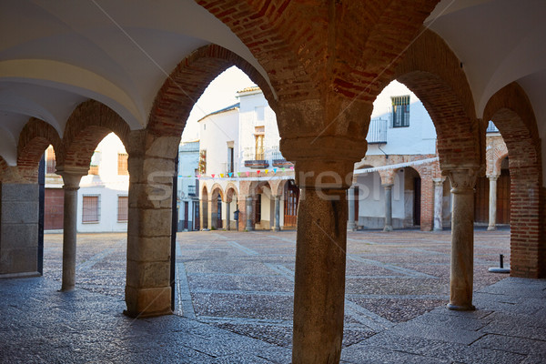 Zafra Plaza Chica in Spain Extremadura Stock photo © lunamarina