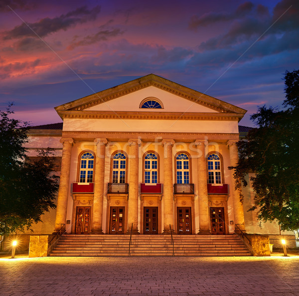 Nordhausen Theater at night in Thuringia Germany Stock photo © lunamarina