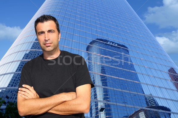 Mid age man portrait modern office buildings Stock photo © lunamarina