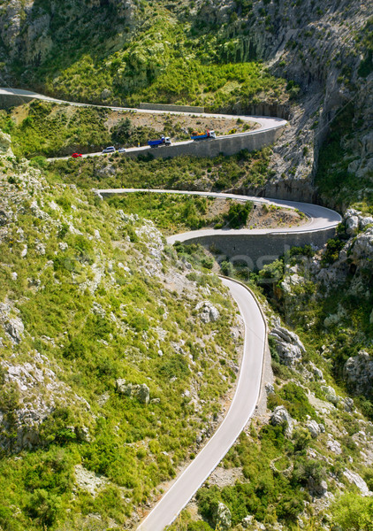 Winding road in mountain near Sacalobra in Mallorca Stock photo © lunamarina