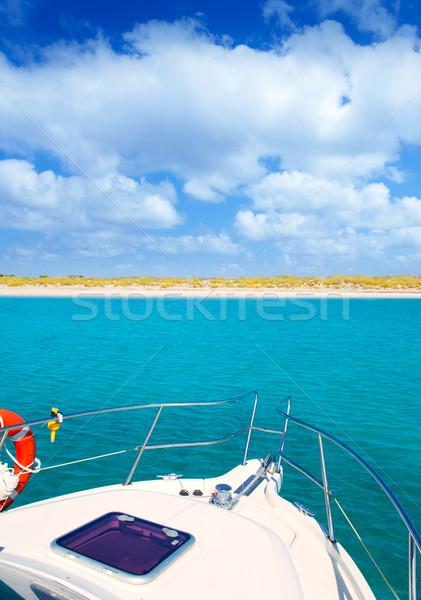 Boat anchored in Formentera Espalmador island Stock photo © lunamarina