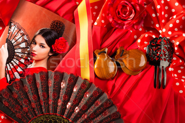 Flamenco woman with bullfighter and typical Spain Espana Stock photo © lunamarina