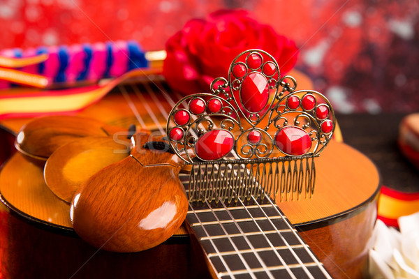 Cassic spanish guitar with flamenco elements Stock photo © lunamarina
