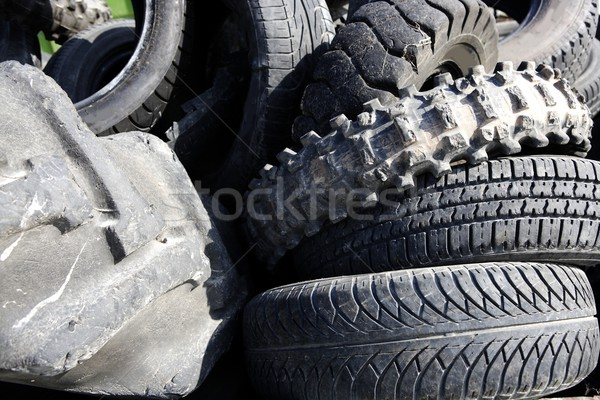 vehicle tyres tires recycle ecology environment industry Stock photo © lunamarina