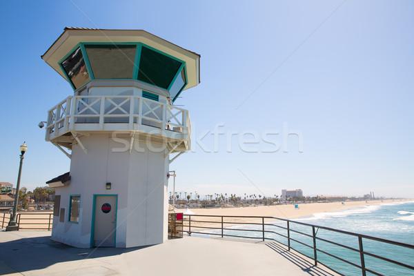 Plaży główny ratownik wieża surfowania miasta Zdjęcia stock © lunamarina