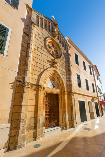 Ciutadella Menorca carrer Mao church downtown Stock photo © lunamarina