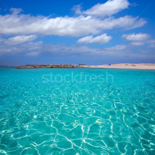 Formentera Illetes Illetas tropical beach near Ibiza Stock photo © lunamarina