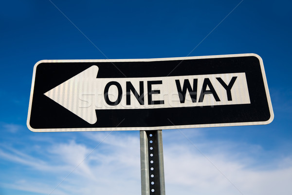 One way arrow sign in USA Stock photo © lunamarina
