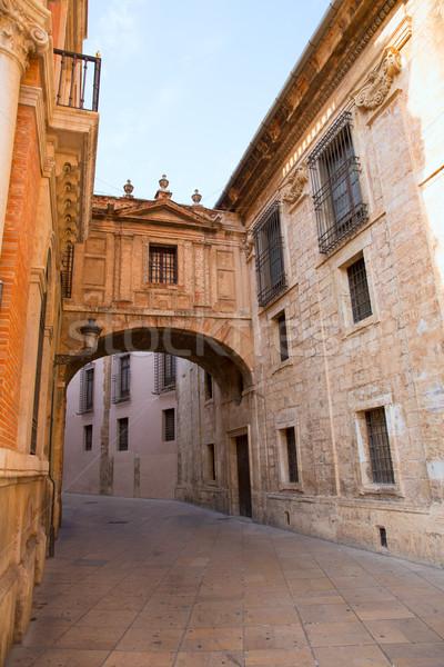 Валенсия собора арки улице Испания Европа Сток-фото © lunamarina