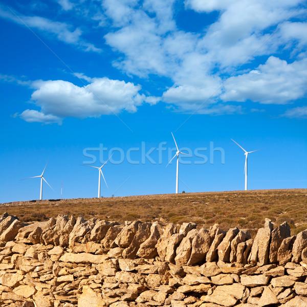 Maestrazgo in Castellon Windmills with traditional rural life Stock photo © lunamarina