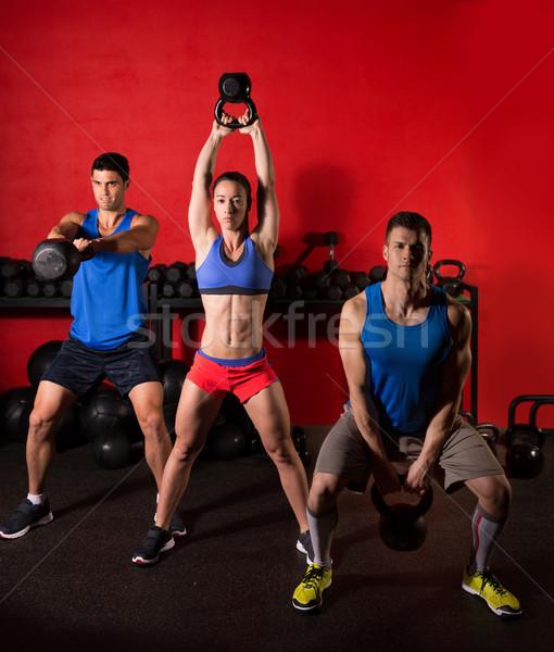 ケトルベル スイング トレーニング 訓練 グループ ジム ストックフォト © lunamarina