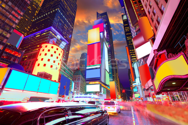 Times Square Manhattan New York deleted ads Stock photo © lunamarina