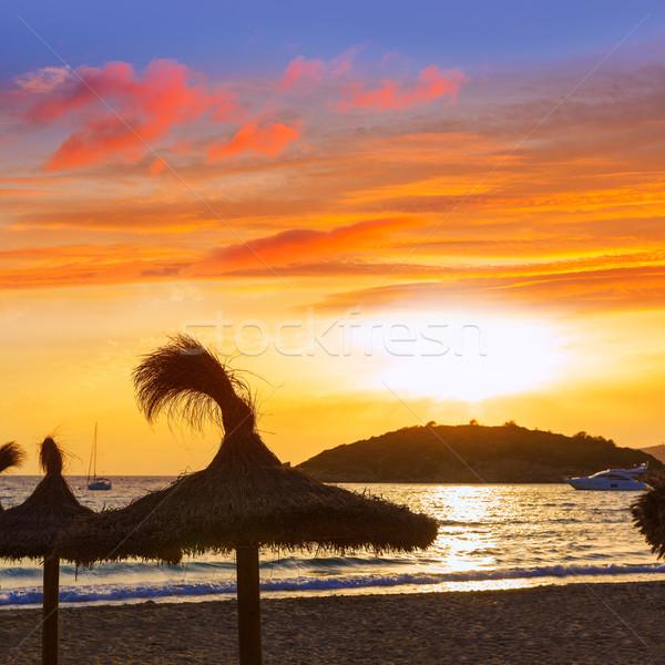 日没 ニレ マヨルカ島 島々 スペイン 風景 ストックフォト © lunamarina