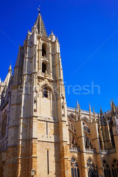 Catedral Espanha lado fachada edifício igreja Foto stock © lunamarina