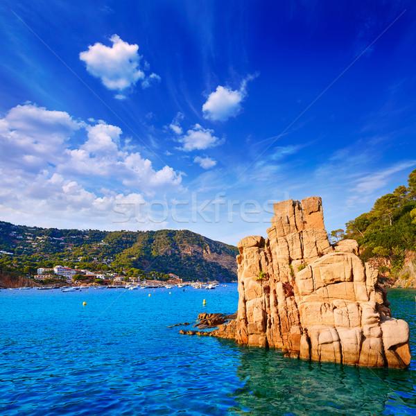 Aigua Blava beach Cala Begur Girona at Catalonia Stock photo © lunamarina
