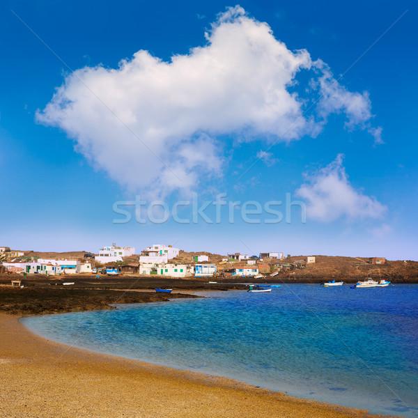 Majanicho Fuerteventura at Canary Islands Stock photo © lunamarina