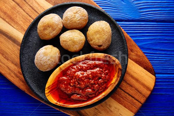 Arrugado patatas canario canarias receta rojo Foto stock © lunamarina