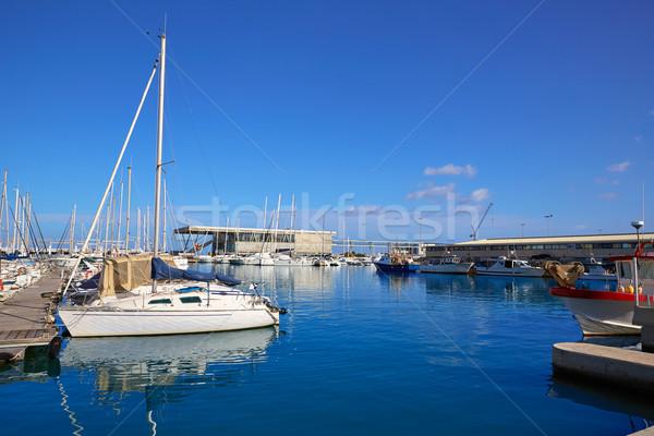 Marina port Espagne plage mer Photo stock © lunamarina