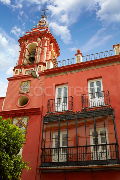 Seville parroquia de la O church Spain at Triana Stock photo © lunamarina