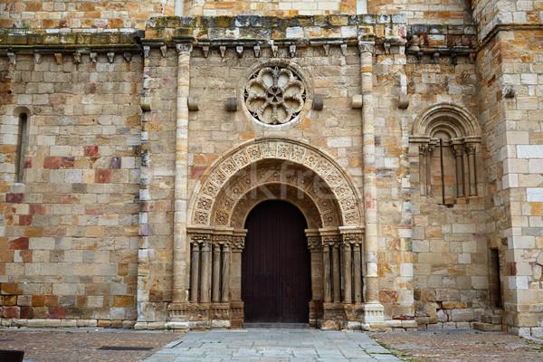 Zamora San Juan church in Plaza Mayor spain Stock photo © lunamarina
