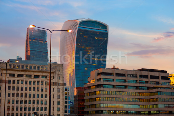 London financial district skyline sunset  Stock photo © lunamarina