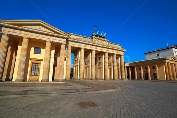 ストックフォト: ベルリン · ブランデンブルグ門 · 建物 · 市 · 夏 · 旅行